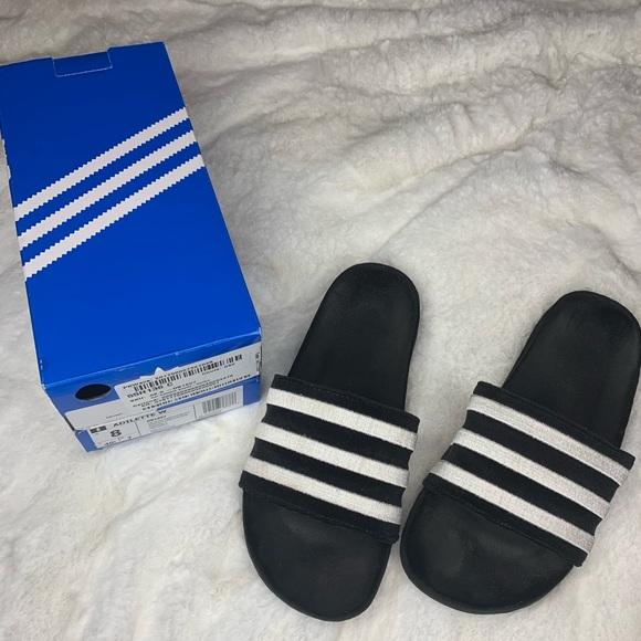Womens Adidas Adilette Suede Slides